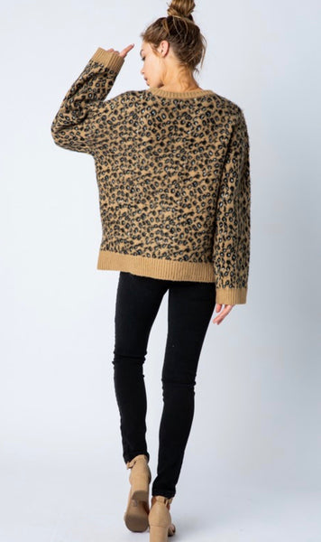 Taupe Leopard Sweater