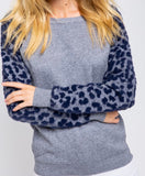 Navy Leopard Sweater