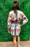 Off White Floral Shirt Dress