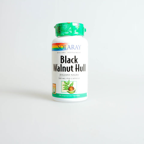 BLACK WALLNUT HULL 100 CAPS 500 MG ( TINTURA DE NOGAL ) - SOLARAY
