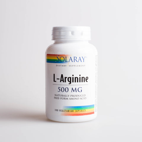 L-ARGININE 500 MG 100 CAP - SOLARAY