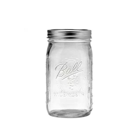 MASON JAR QUART JAR WIDE - MASON JARS
