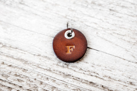 Personalized Initials Leather Keychain