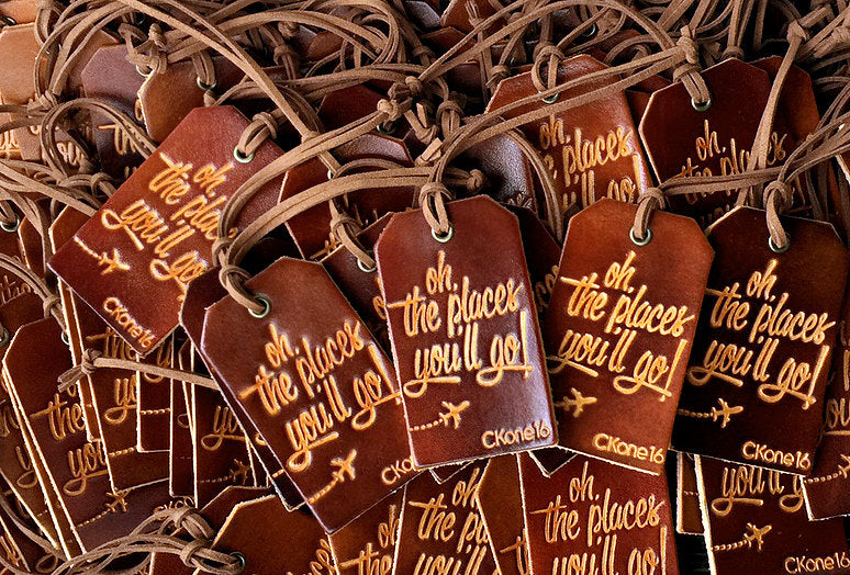Leather Luggage Tag Wedding Favors