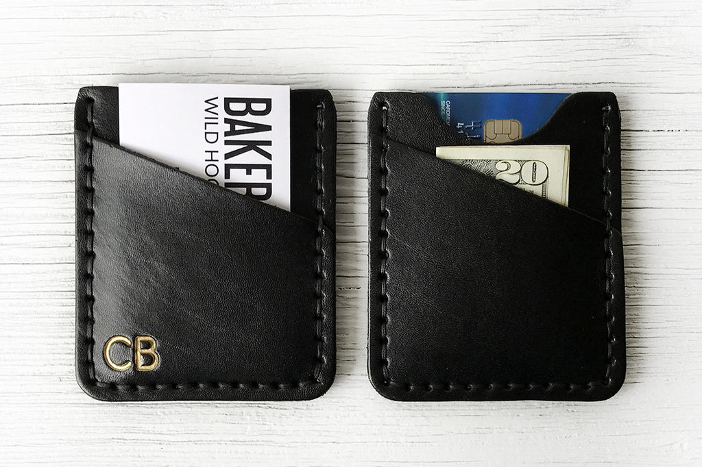 Black Leather Minimalist Wallet