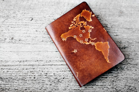 Personalized Map Passport Cover