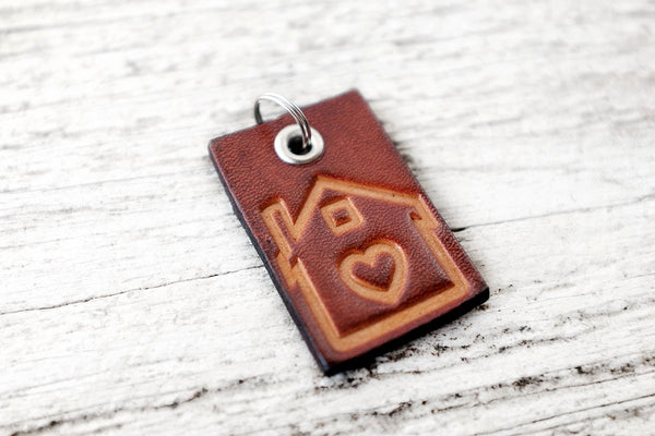Housewarming Gift Leather Keychain - Exsect Inc. - 3