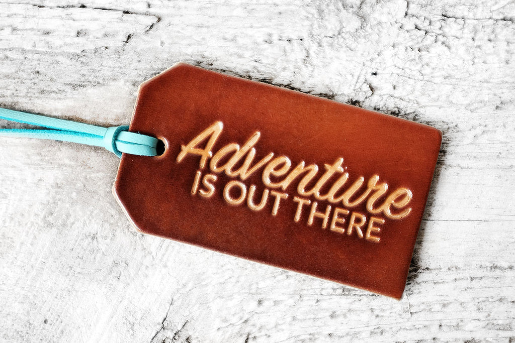 Adventure is Out There Leather Luggage Tag