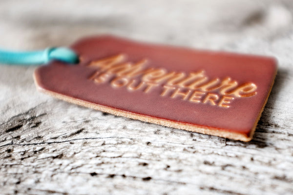 Adventure is Out There Leather Luggage Tag - Exsect Inc. - 2