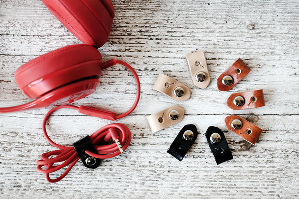 Wearable Tech Jewelry - Leather Cord Organizers