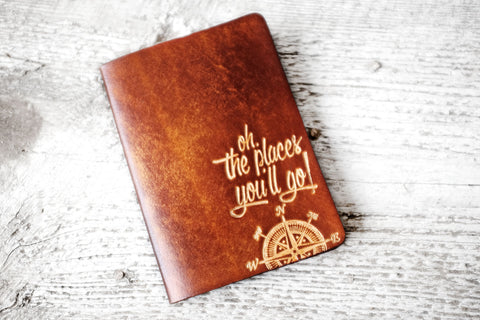 Leather Passport Holder, Unique Travel Gift