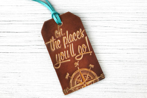 Dr Seuss Quote Luggage Tag