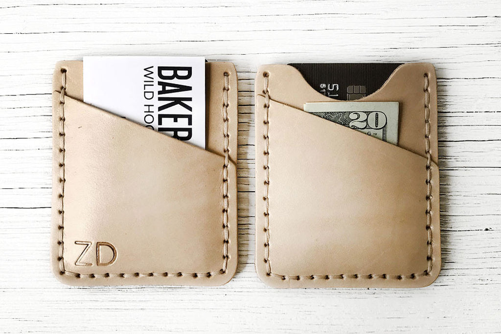 Natural Leather Minimalist Wallet