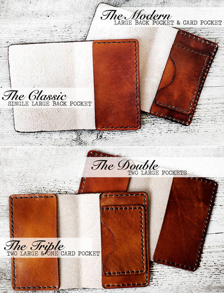 Men's Leather Passport Cover - Deer Antlers