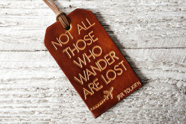 Not All Those Who Wander Are Lost Luggage Tag - Exsect Inc. - 1