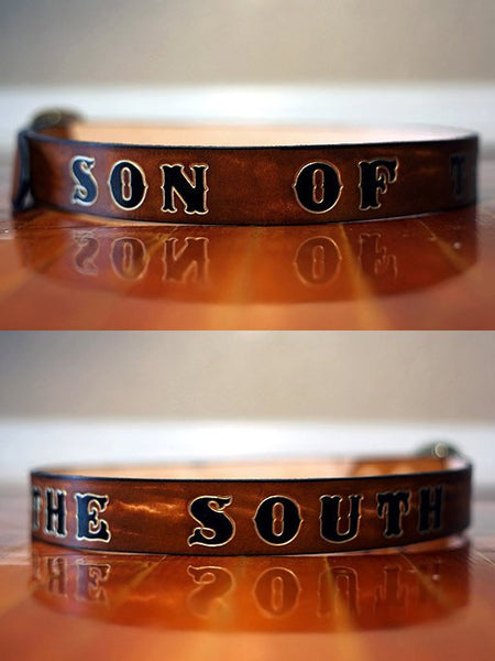 Mens Personalized Leather Belt - Exsect Inc. - 1