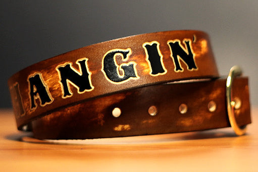 Personalized Name Leather Belts - Groomsmens Gifts - Exsect Inc. - 4