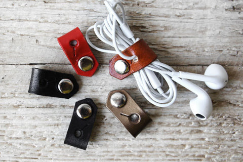 Wearable Tech Jewelry - Leather Cord Organizers - Exsect Inc. - 1