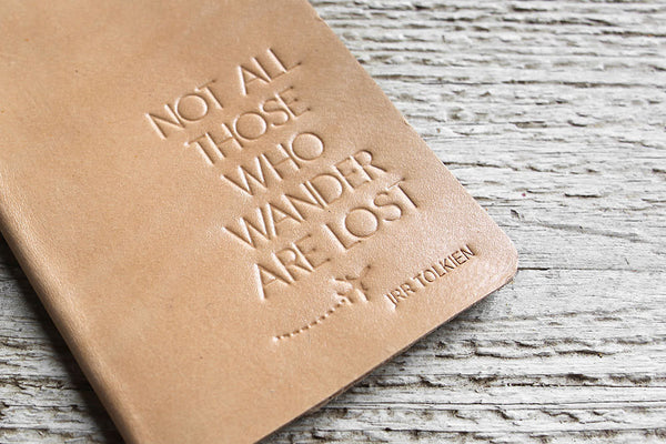 Natural Not All Those Who Wander Passport Holder - Exsect Inc. - 1