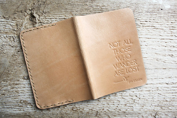 Natural Not All Those Who Wander Passport Holder - Exsect Inc. - 3