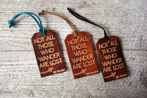 Not All Those Who Wander Are Lost Luggage Tag - Exsect Inc. - 3