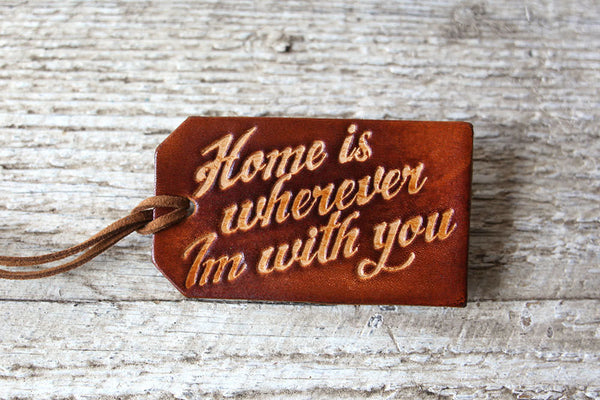 Home is Wherever Im With You Luggage Tag - Exsect Inc. - 2
