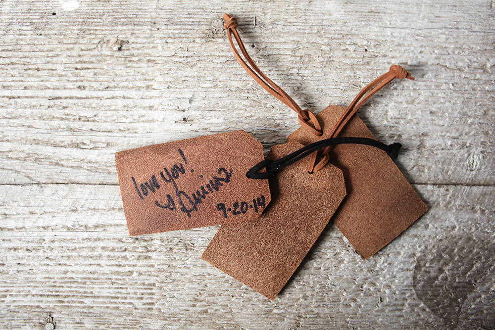 Personalized Luggage Tag Wedding Favors - Real Leather – Exsect