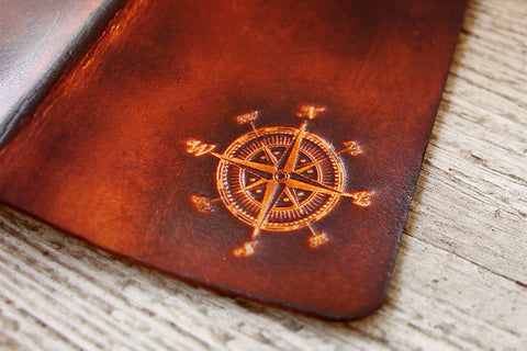 Compass Leather Passport Cover - Exsect Inc. - 1