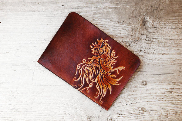 Rooster Passport Cover - Genuine Leather - Exsect Inc. - 1
