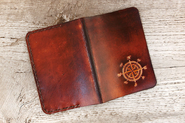 Compass Leather Passport Cover - Exsect Inc. - 4