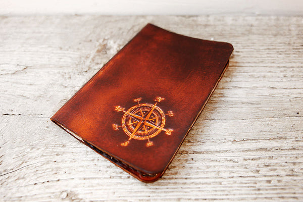 Compass Leather Passport Cover - Exsect Inc. - 3