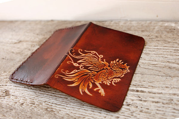 Rooster Passport Cover - Genuine Leather - Exsect Inc. - 2