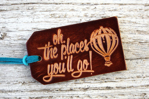 Oh The Places Youll Go Luggage Tag - Exsect Inc. - 1
