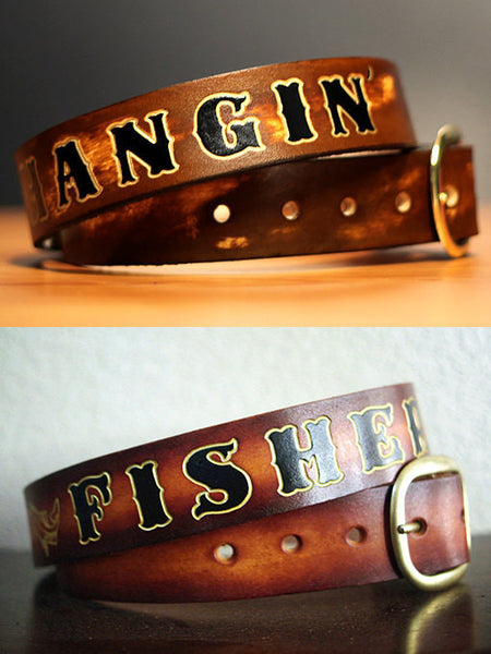 Mens Personalized Leather Belt - Exsect Inc. - 2