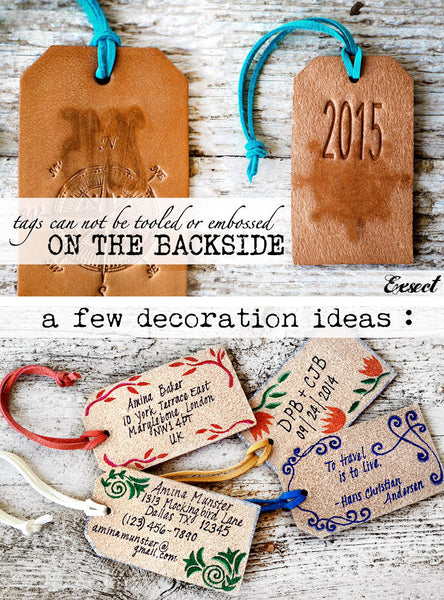 His and Hers Luggage Tags with Custom Wedding Date - Exsect Inc. - 5
