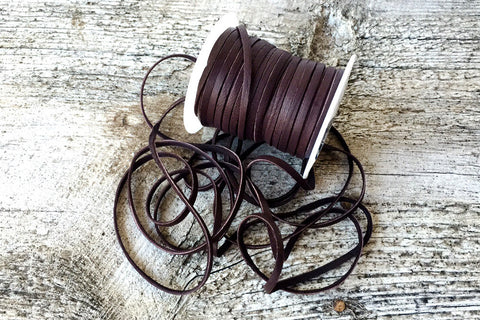 "1/8"" Chocolate Deerskin Lace - Exsect Inc. - 1"