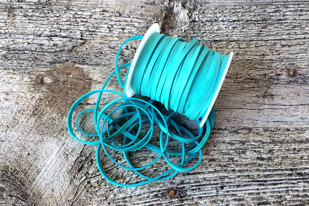"1/8"" Turquoise Deerskin Lace - Exsect Inc. - 1"