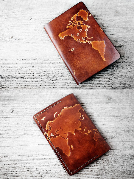Personalized Map Passport Cover - Exsect Inc. - 1