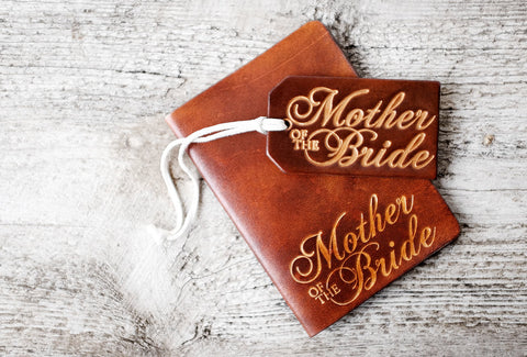 MOTHER of the BRIDE Wedding Party Leather Gift Set - Exsect Inc. - 1