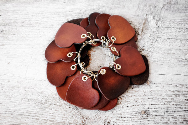 Couples Gift - Heart Leather Keychain - Exsect Inc. - 2