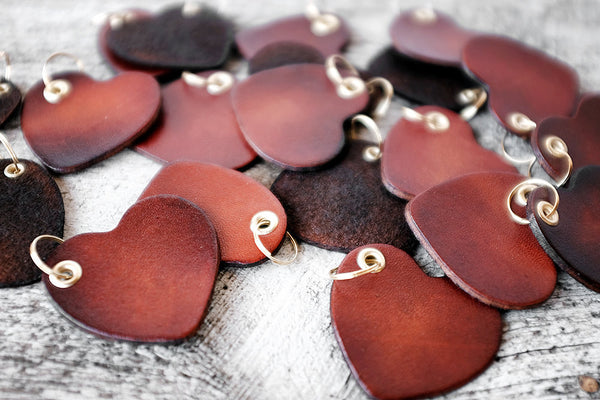 Couples Gift - Heart Leather Keychain - Exsect Inc. - 4