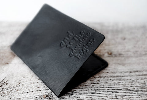 Black And So The Adventure Begins  - Passport Cover - Exsect Inc. - 1