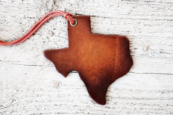 Texas State Leather Luggage Tag - Exsect Inc. - 1