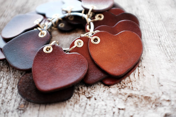 Couples Gift - Heart Leather Keychain - Exsect Inc. - 3