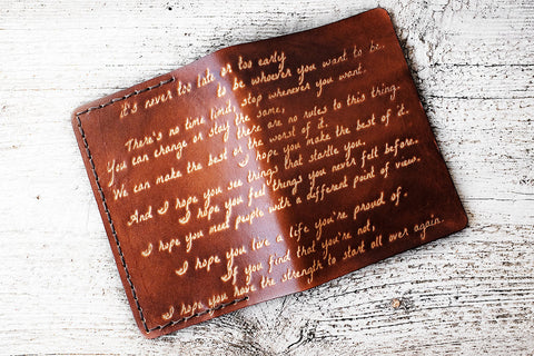 F. Scott Fitzgerald Inspirational Quote Passport Cover - Exsect Inc. - 1