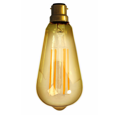 Bayonet 4W LED Edison Squirrel Cage Gold Filament Bulb