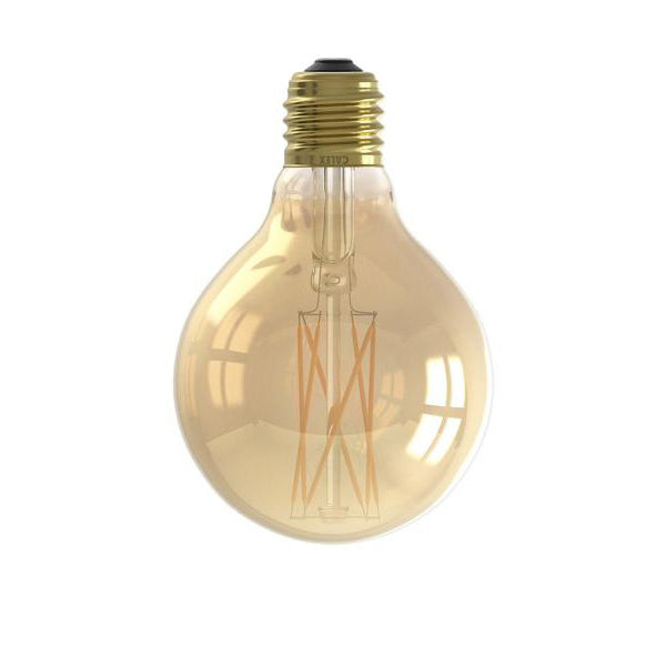 E27 Dimmable 4W Gold LED 80mm Globe Filament Bulb