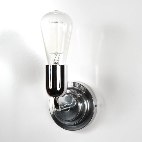Addison Fixed Deco Chrome Wall Light