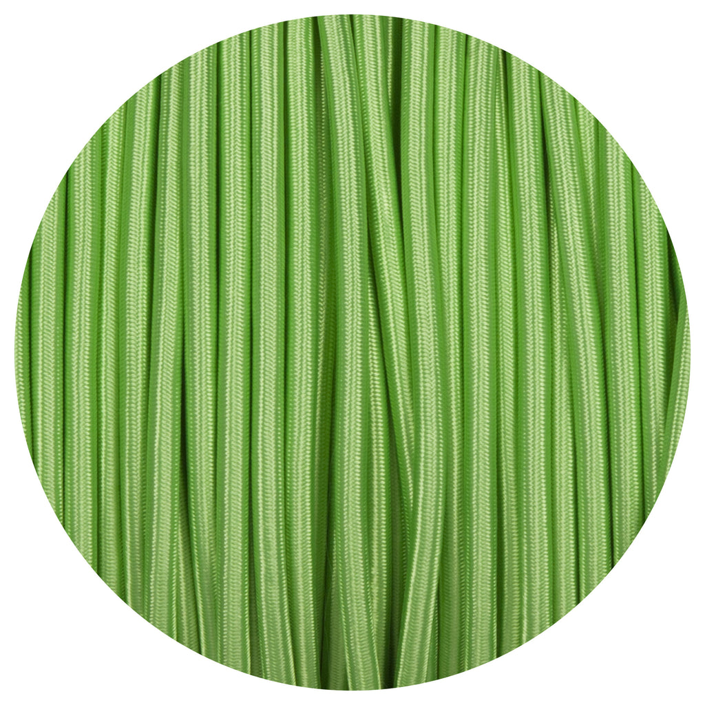 Apple Green Round Fabric Braided Cable