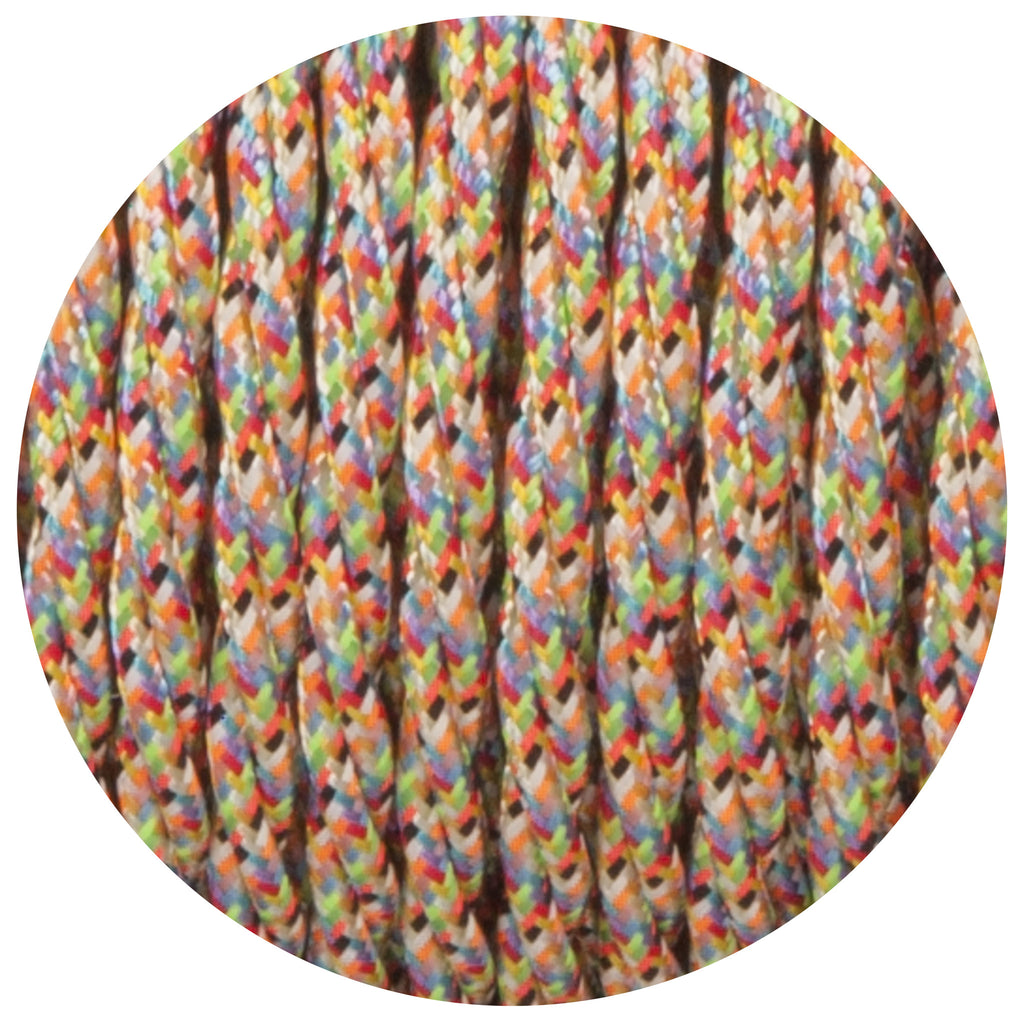 Aztec Harlequin Twisted Fabric Braided Cable